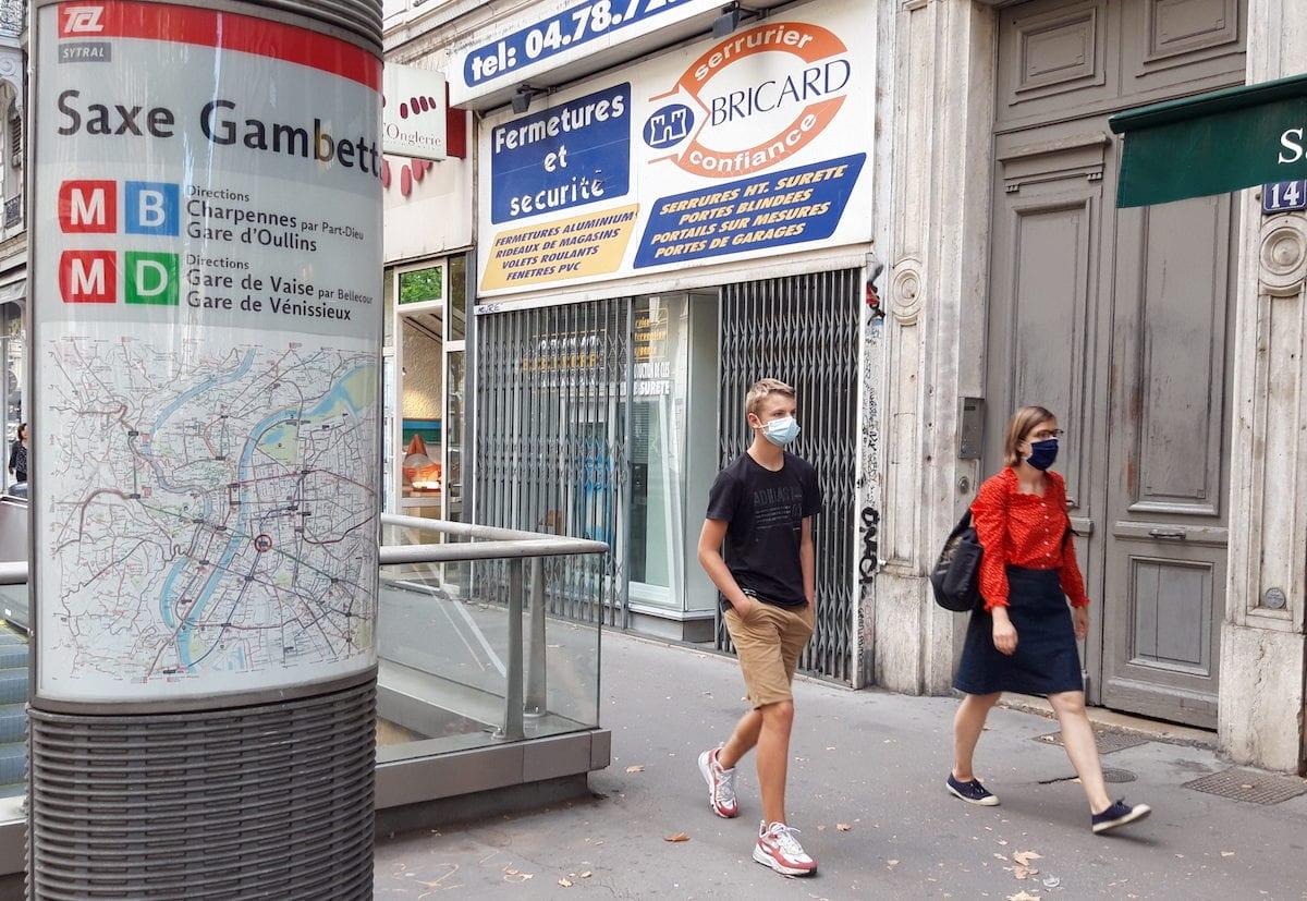 Personnes masquées à Lyon le 31 août 2020.