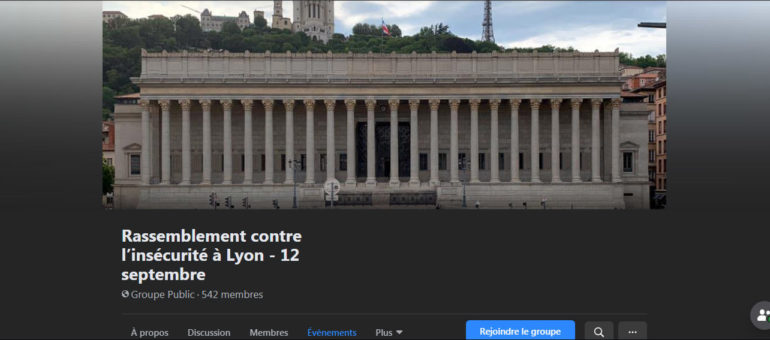 A Lyon, l'extrême droite derrière le rassemblement contre l'insécurité