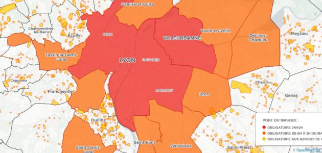 [Carte] Métropole de Lyon : dans quelles rues le port du masque est-il obligatoire ?
