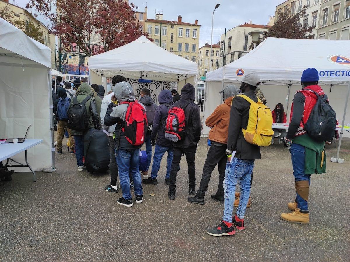 Les derniers occupants du squat Maurice Scève ont été expulsés ce mercredi matin. ©GB/Rue89Lyon
