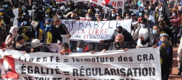Marche des sans-papiers à Lyon: «on ira arracher notre régularisation!»