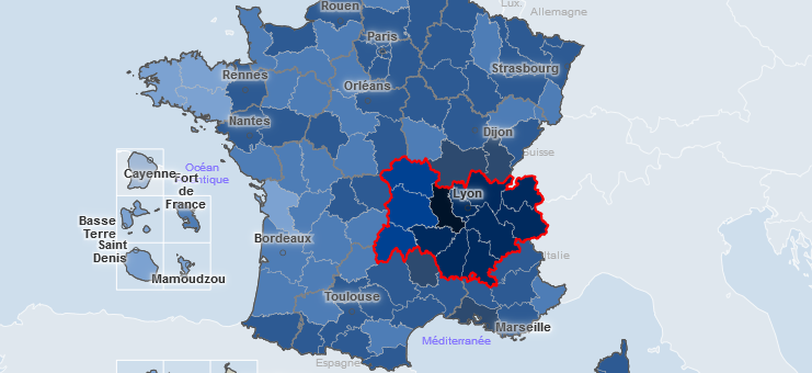 Covid-19 : dégradation lente et constante en Auvergne-Rhône-Alpes