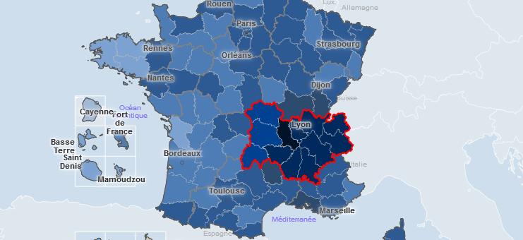 Covid-19 : un recul enfin perceptible en Auvergne-Rhône-Alpes