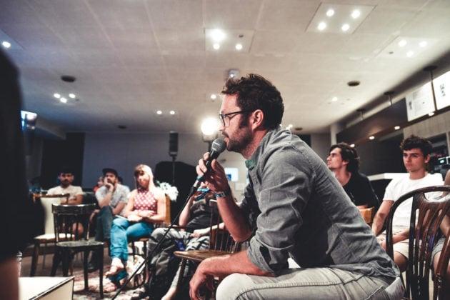 Vincent Cavaroc à Lyon, pendant une édition d'European Lab. DR