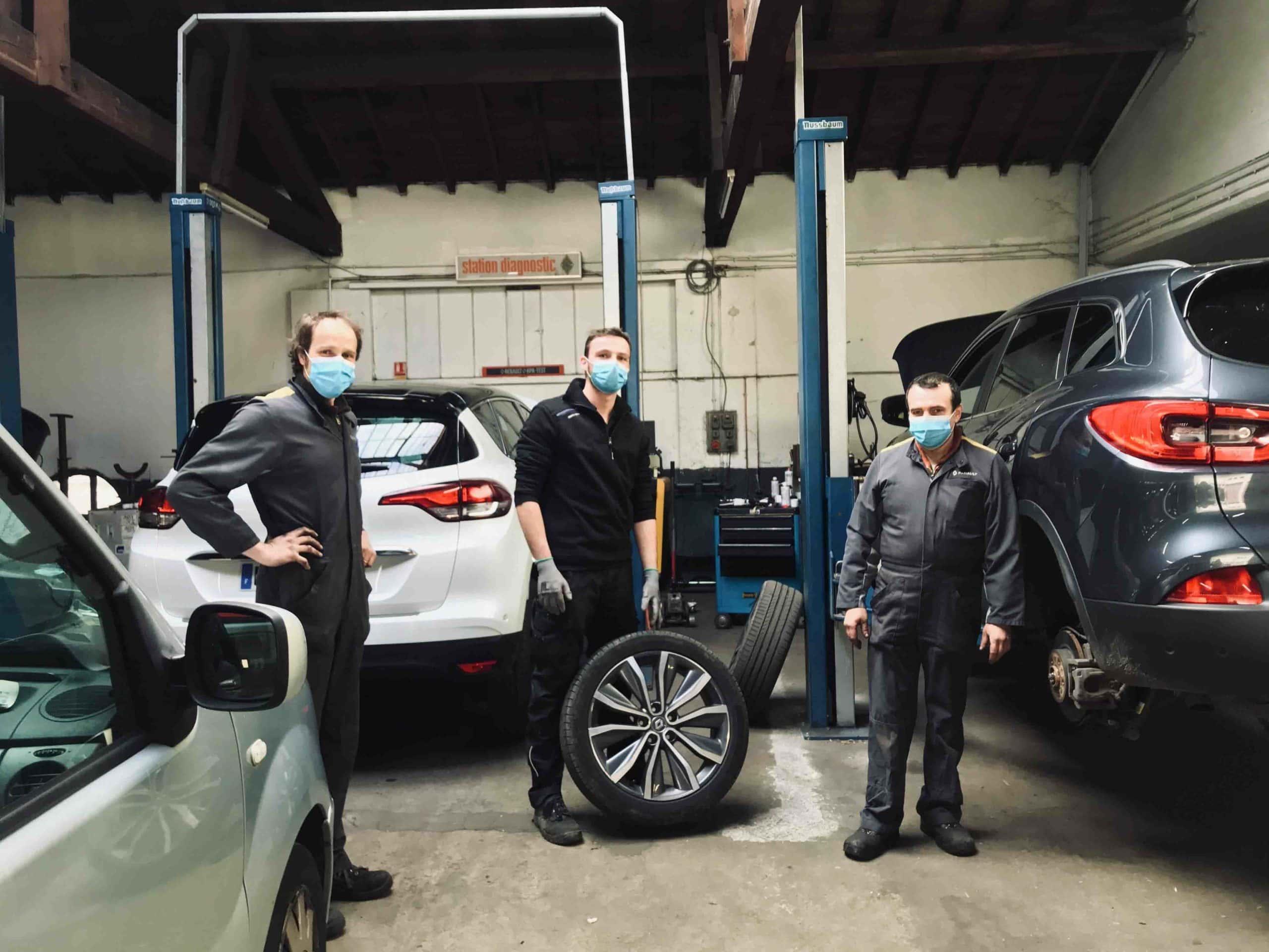 Garage Momplot à Saint-Etienne durant le confinement