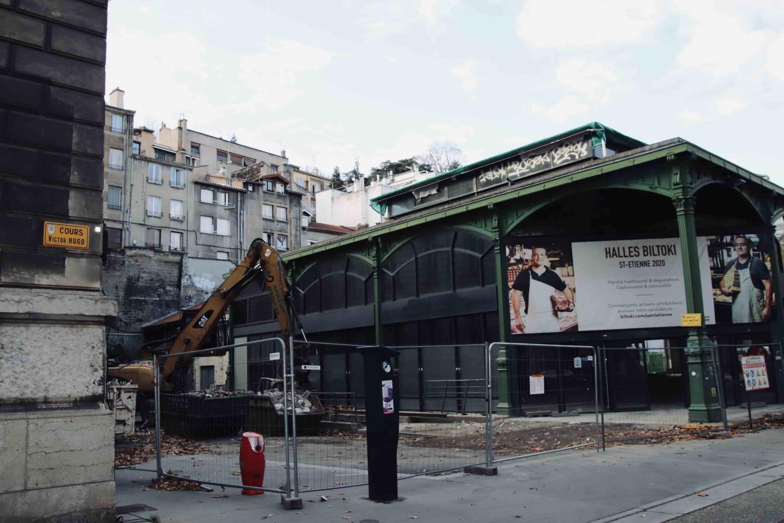 Halles Biltoki à Saint-Etienne durant la confinement automne 2020