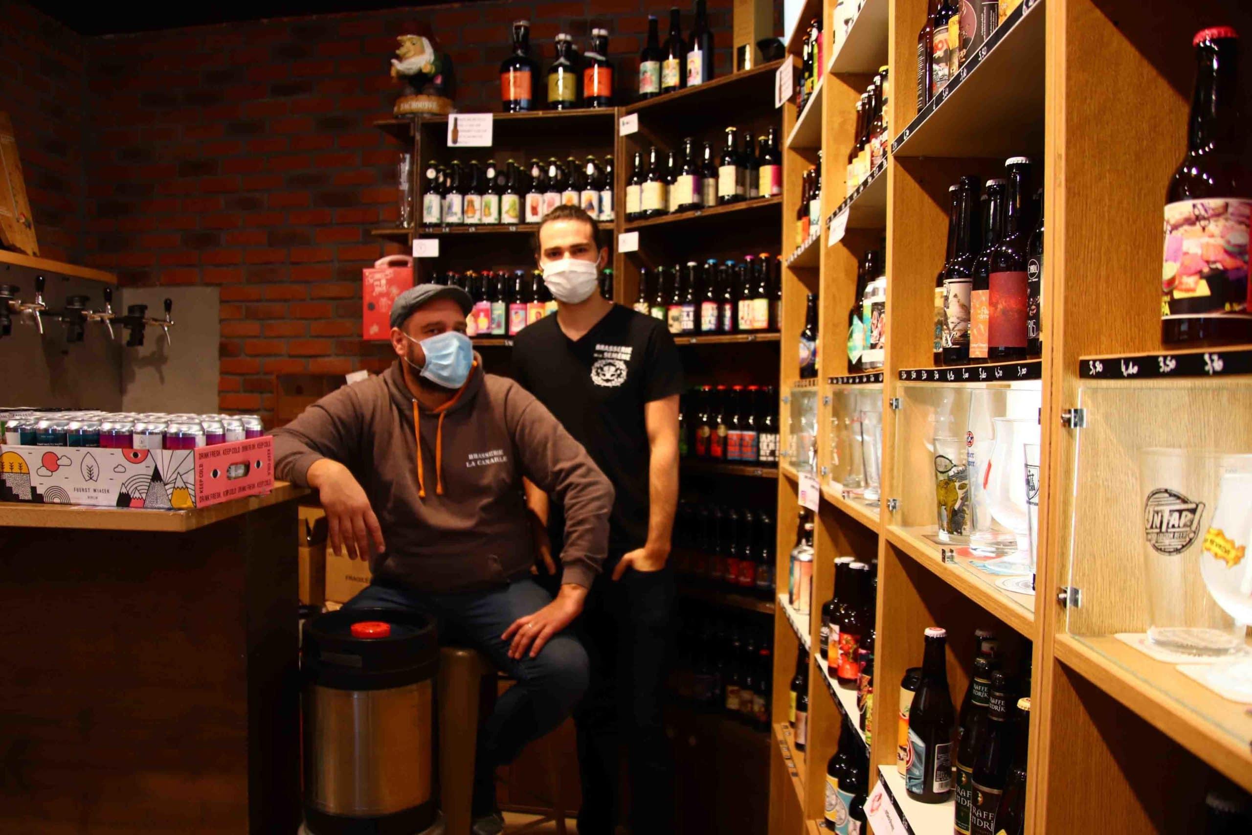Boutique Geek and beers à Sain-Etienne durant la confinement