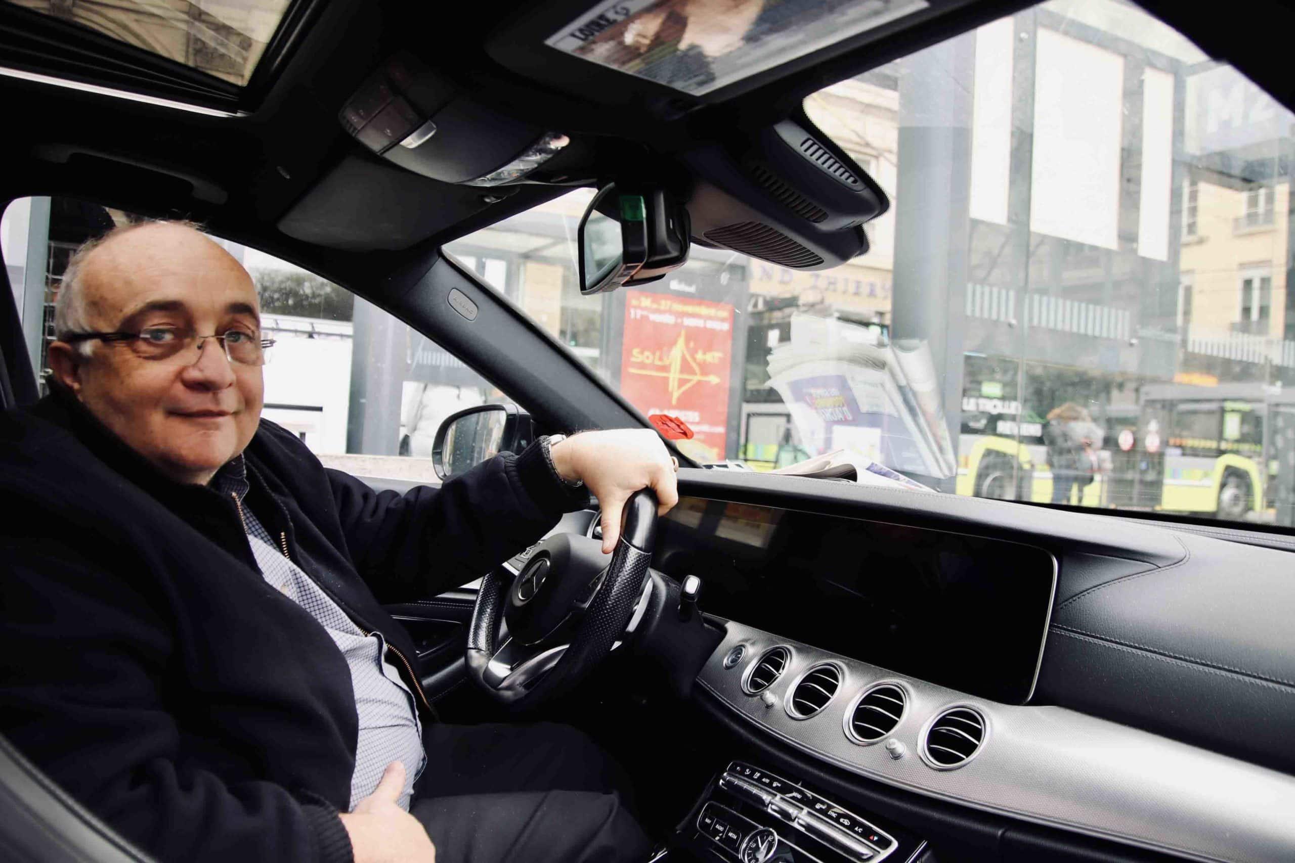 Taxi à Saint-Etienne pendant le confinement automne 2020