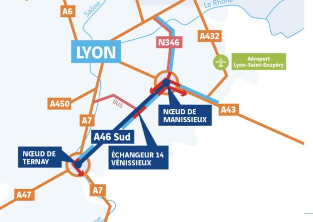A46 Sud Lyon 2 x 3 voies