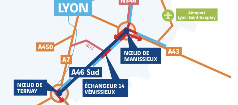 L'A46 Sud en 2 x 3 voies dans l'Est lyonnais : le projet autoroutier qui fait la (quasi) unanimité contre lui