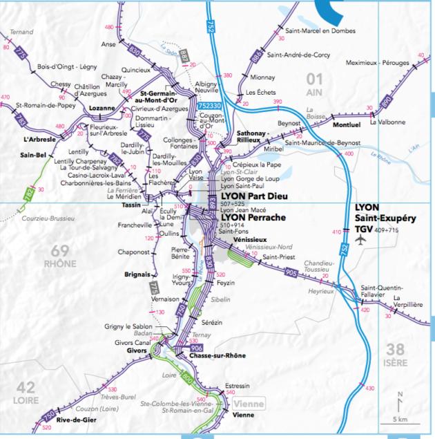 Le nœud ferroviaire lyonnais est vu comme l'un des plus complexe de France.