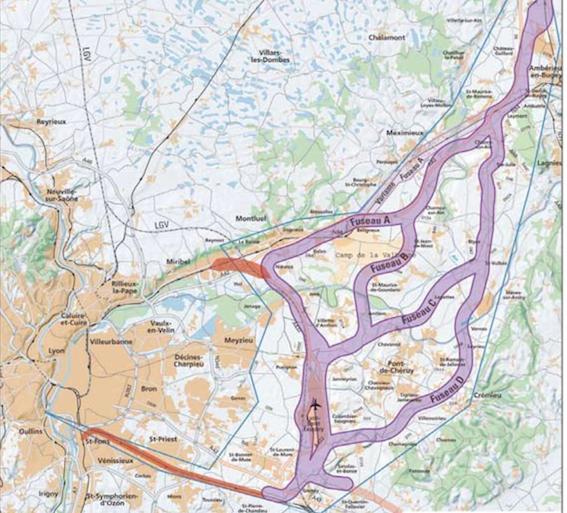 Les quatres tracés du CFAL Nord.