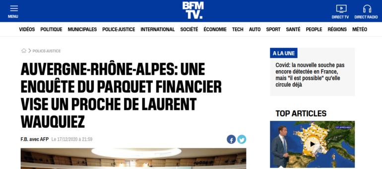Une enquête du parquet financier vise le cabinet de Laurent Wauquiez