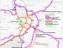 Le grand contournement Est permettrait d'éviter la métropole lyonnaise via un prolongement de l'A432. Crédit : Commission particulière du débat public (CPDP).
