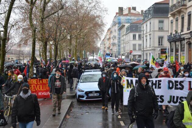 La marche des libertés à Lyon.