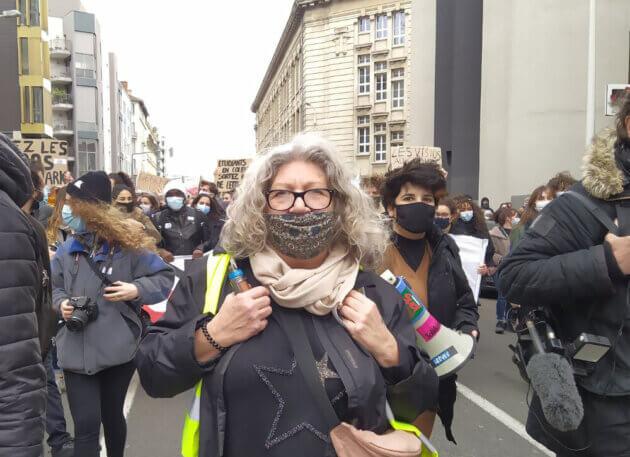Manifestation des étudiants pour des conditions de vie décentes à Lyon, le 21 janvier 2020. ©LS/Rue89Lyon