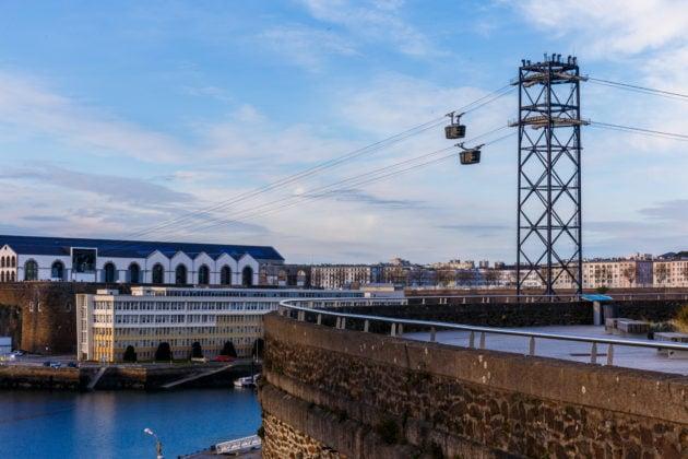 Le téléphérique des Capucins, à Brest ©Jérémy Kergoulay