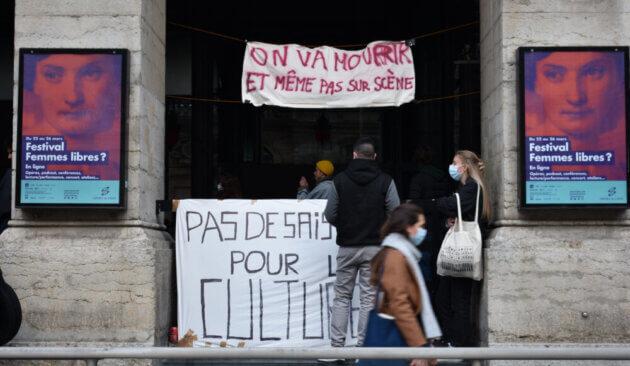 Opéra de Lyon occupé, le 16.03.21 ©LS/Rue89Lyon