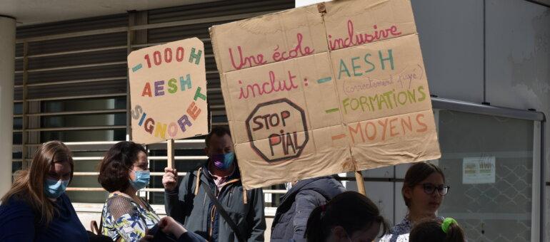 Un rassemblement des AESH et de leurs soutiens ce jeudi à Lyon