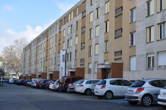 Les bâtiments de la rue Marius Donjon, à l'arhitecture des années 1960 (bâtiment 440 au 460) ©LS/Rue89Lyon