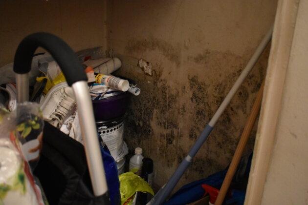 Chez Sarah, la moisissure s'infiltre partout. ©LS/Rue89Lyon