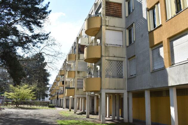 Les balcons construits dans les années 90. ©LS/Rue89Lyon
