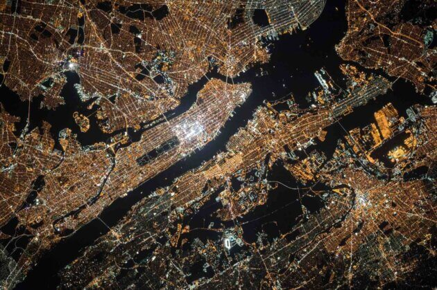 Vue satellite de New-York
