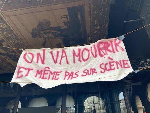 Opéra de Lyon occupé en mars 2020. ©DD/Rue89Lyon