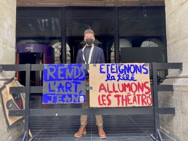 Opéra de Lyon occupé depuis le 15 mars. ©DD/Rue89Lyon