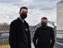 Pierre Zeimet à gauche, Cédric Dujardin à droite, sur le rooftop du Sucre. ©LS/Rue89Lyon