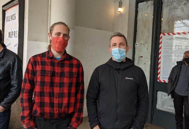 Thibaud et John, aux 1 mois d'occupation du TNP, à Villeurbanne ©LS/Rue89Lyon