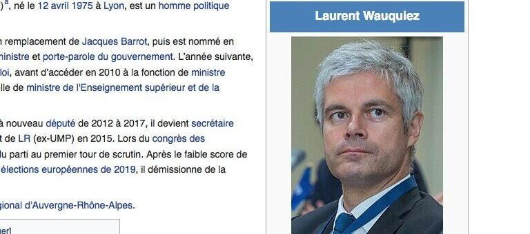 Entre Najat Vallaud-Belkacem et Laurent Wauquiez la guerre sur Wikipédia