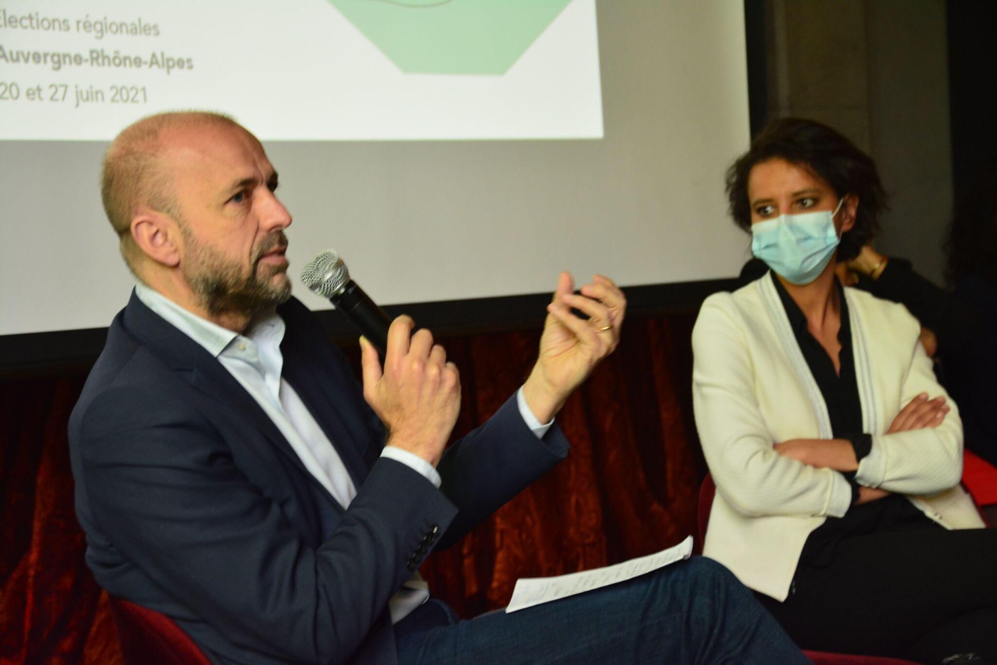 Jean-François Debat et Najat Vallaud-Belkacem TER Lyon