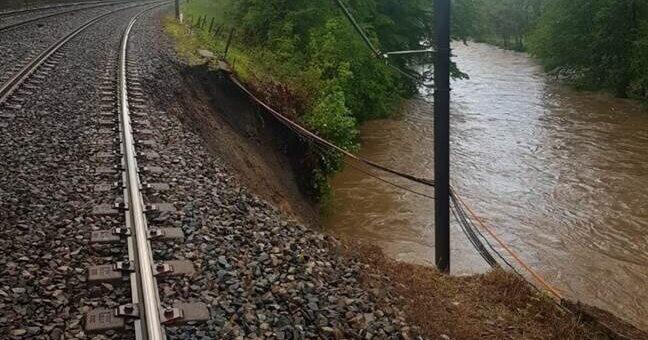 Après la pluie : trafic des trains coupé entre Saint-Étienne et Givors