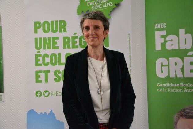 Fabienne Grébert, tête de liste des écologistes.