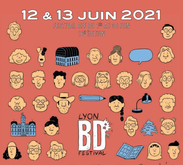 Bannière du Lyon BD festival 2021