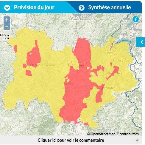 pic de pollution été 2021 Lyon