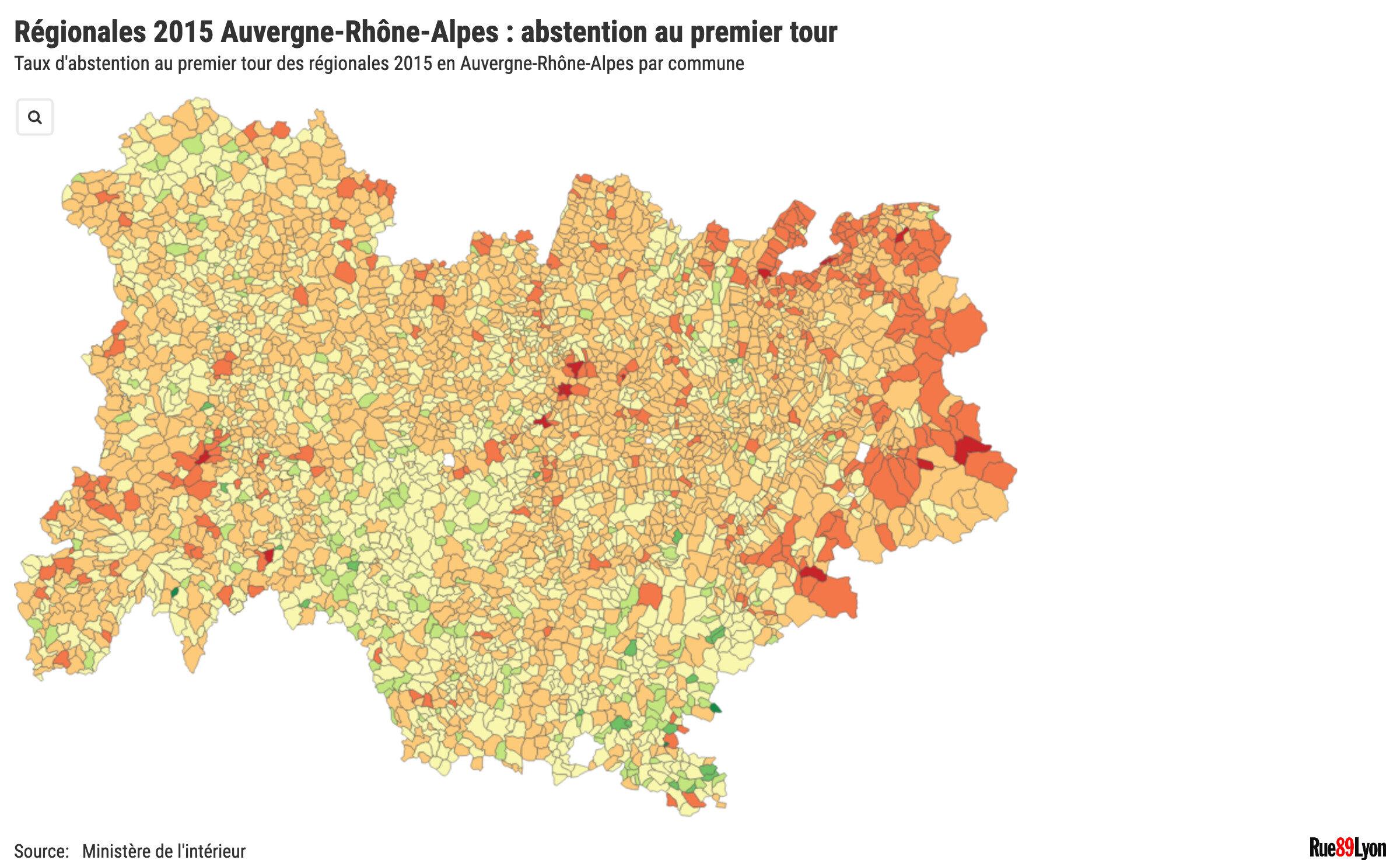 Abstention régionales Auvergne-Rhône-Alpes