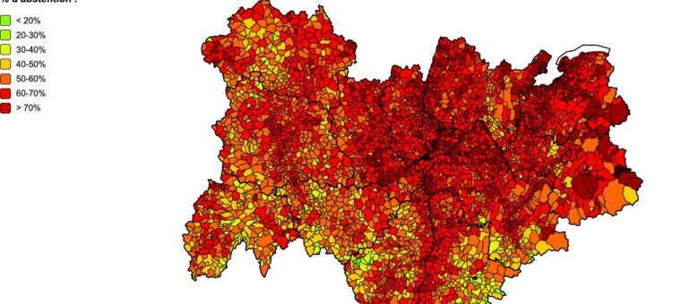 Régionales en Auvergne-Rhône-Alpes: l'abstention massive à la loupe