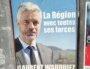 Affiche de campagne de la liste Les Républicains aux régionales 2021 en Auvergne-Rhône-Alpes menée par Laurent Wauquiez. ©BE/Rue89Lyon