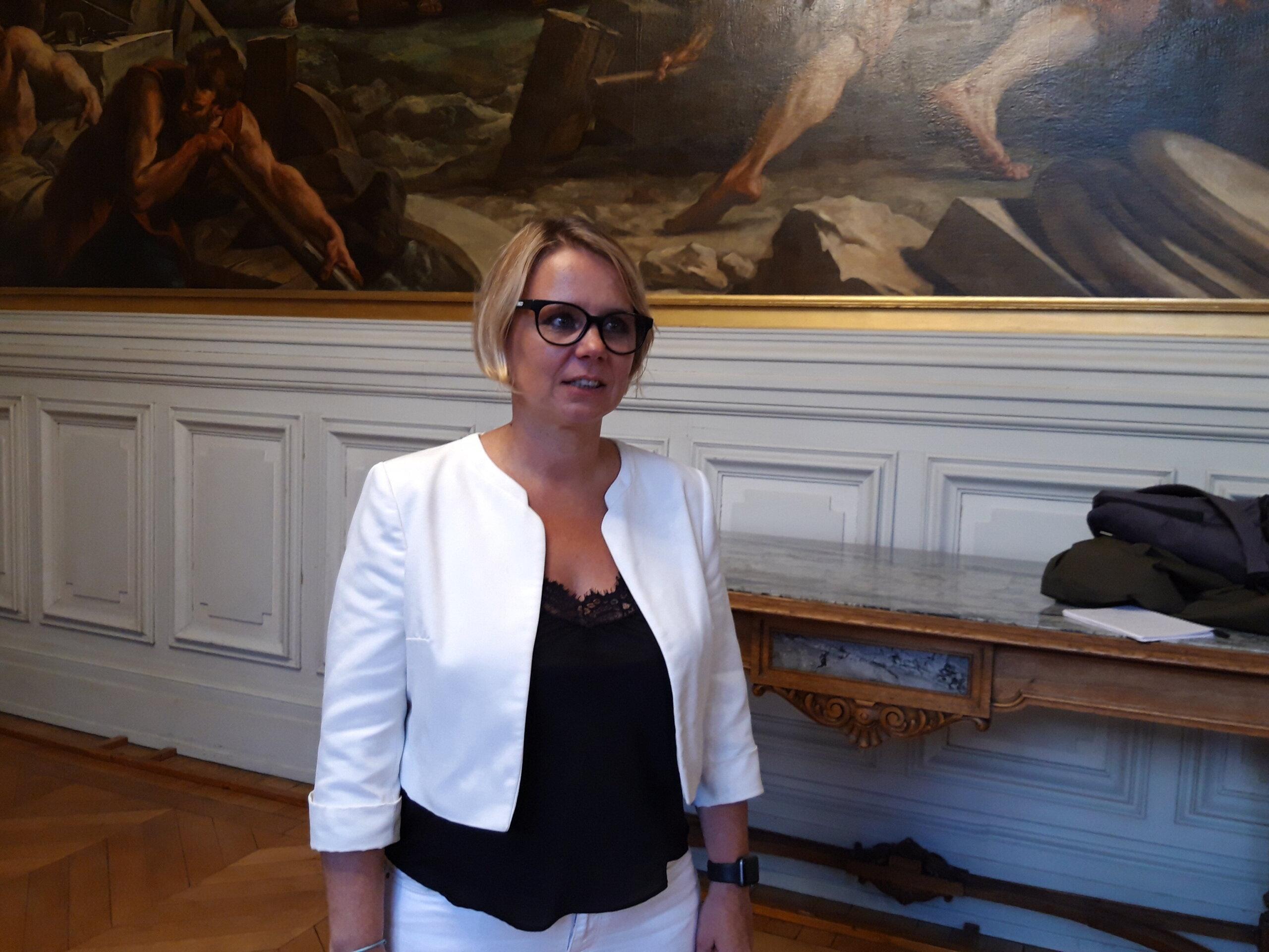 Cécile Cukierman, tête de liste PCF-LFI