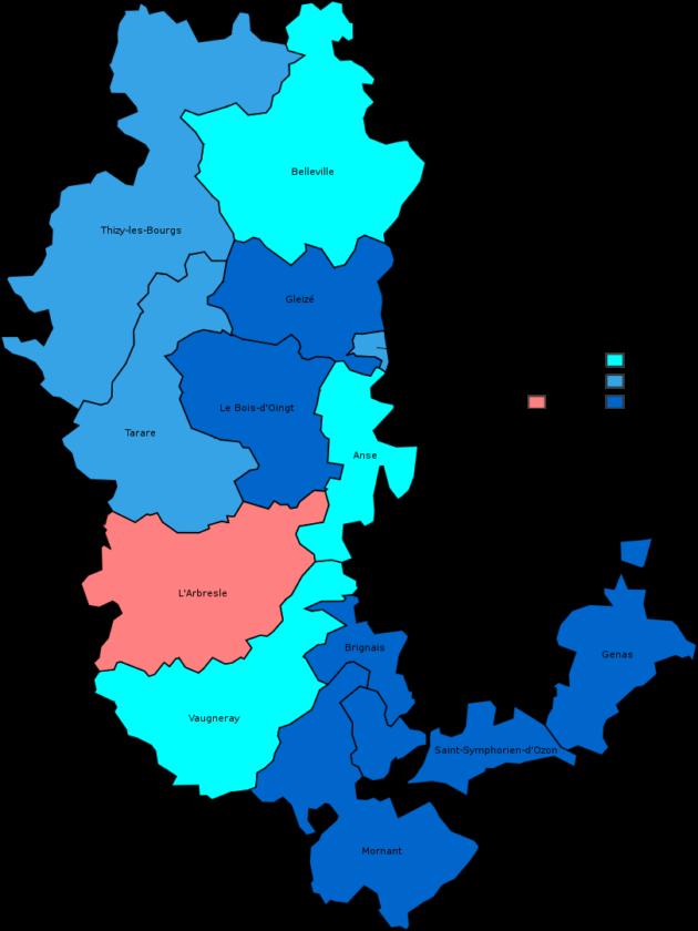 Résultats départementales Rhône