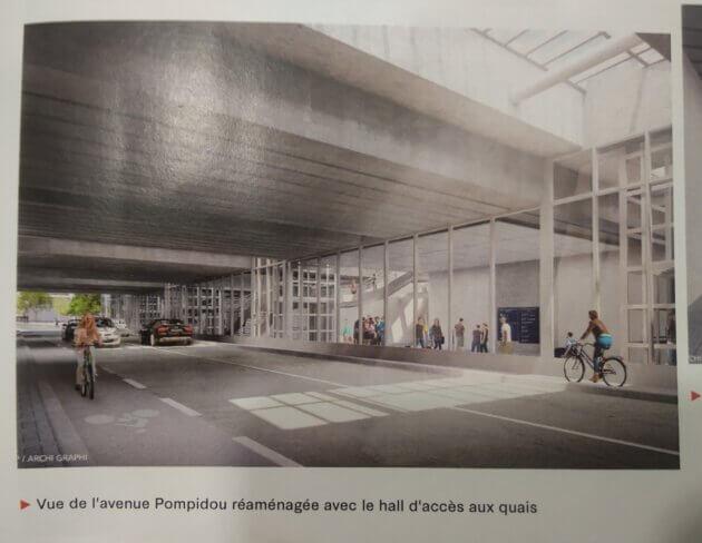 Passage Pompidou gare Part-Dieu