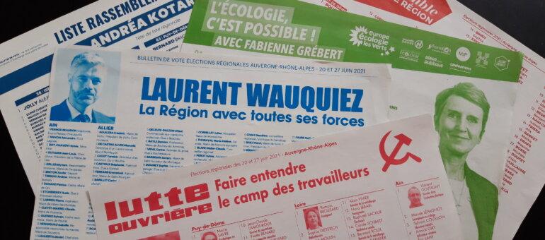 Régionales : encore des problèmes avec les professions de foi à Lyon