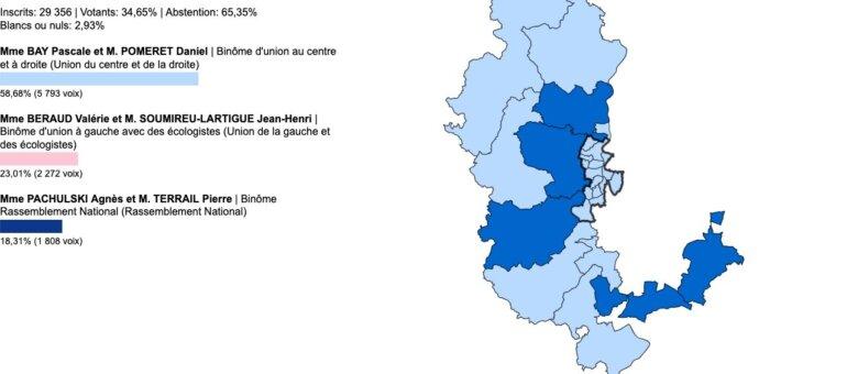 Départementales Rhône: vos élus du canton d'Anse