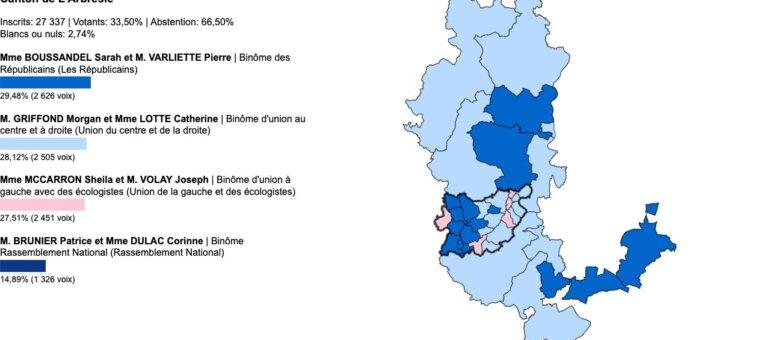 Départementales Rhône: vos élus du canton de l'Arbresle