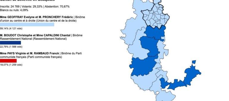 Départementales Rhône : vos élus du canton de Belleville-en-Beaujolais