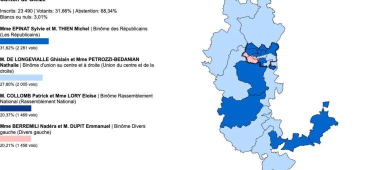 Départementales Rhône : vos élus du canton de Gleizé
