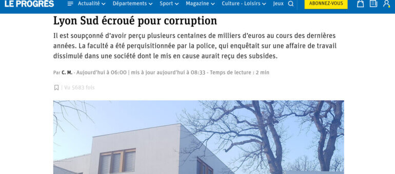 Corruption à la fac de médecine Lyon Sud: le directeur administratif écroué
