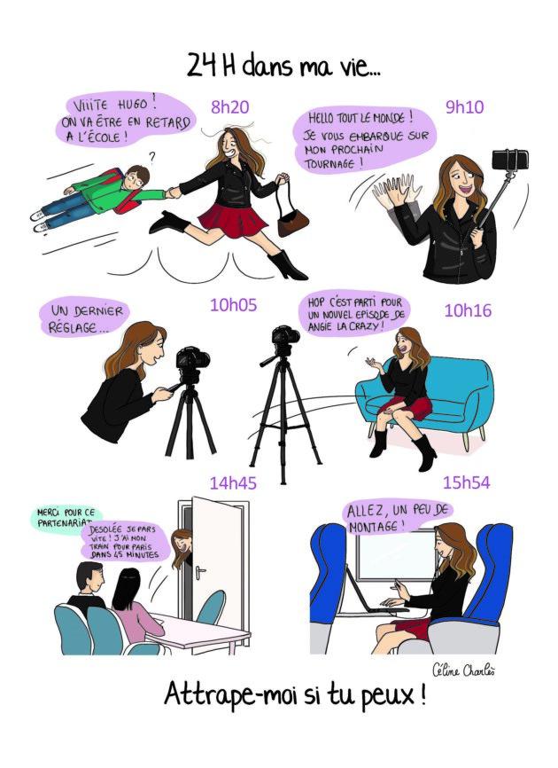 """illustration extraite du livre """"Comment je suis devenue youtubeuse"""" d'Angélique Grimberg"""